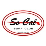 So Cal Surf Club Oval Decal