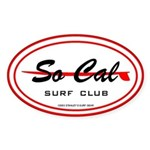 So Cal Surf Club Oval Sticker