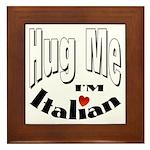 I'm Italian Framed Tile