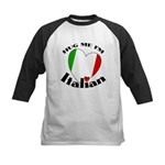 I'm Italian Kids Baseball Jersey