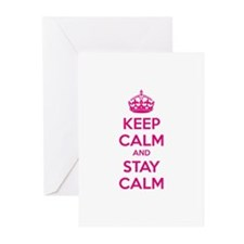 Keep calm and stay calm Greeting Cards (Pk of 10)
