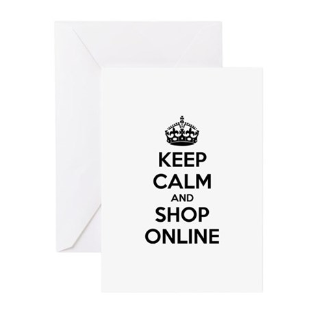 Keep calm and shop online Greeting Cards (Pk of 20