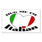 I'm Italian Rectangle Sticker