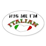 I'm Italian Oval Sticker