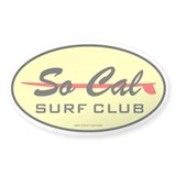 So Cal Surf Club 1 Oval Bumper Stickers