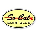So Cal Surf Club 1 Oval Decal