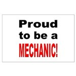 Proud Mechanic Large Poster