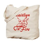 Kaitlyn On Fire Tote Bag