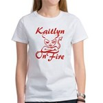 Kaitlyn On Fire Women's T-Shirt