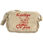 Kaitlyn On Fire Messenger Bag