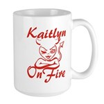 Kaitlyn On Fire Large Mug