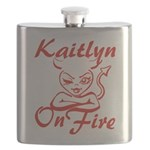 Kaitlyn On Fire Flask
