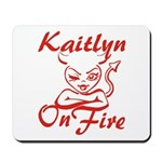 Kaitlyn On Fire Mousepad