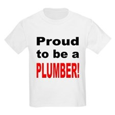 Proud Plumber (Front) Kids T-Shirt