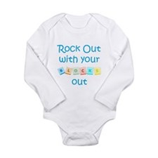 Cute Hanging out Long Sleeve Infant Bodysuit