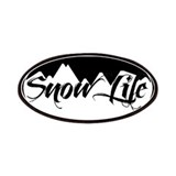 Snowlife Circle with Mountains Patches