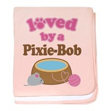 Loved By Pixie-Bob Cat baby blanket
