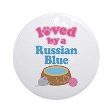 Loved By A Russian Blue Ornament (Round)