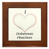 Dobie Heart Framed Tile