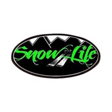 SnowLife Black Mnt Green Font Patches