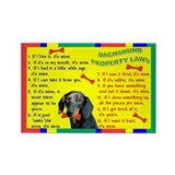 Cool Dachshund Rectangle Magnet
