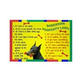 Doberman Property Laws Rectangle Magnet (100 pack)