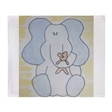 Cute Elephant Throw Blanket