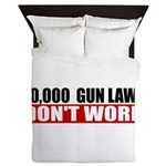 20,000 Gun Laws Queen Duvet