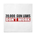 20,000 Gun Laws Queen Duvet