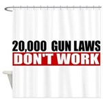 20,000 Gun Laws Shower Curtain
