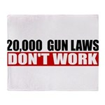 20,000 Gun Laws Throw Blanket