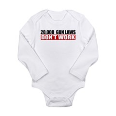 20,000 Gun Laws Long Sleeve Infant Bodysuit