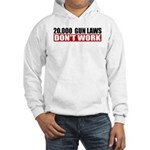 20,000 Gun Laws Hooded Sweatshirt