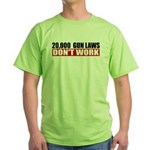 20,000 Gun Laws Green T-Shirt