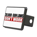 20,000 Gun Laws Rectangular Hitch Cover