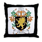 O'Griffey Coat of Arms Throw Pillow