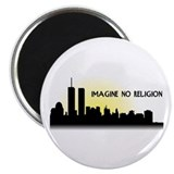 Imagine No Religion Twin Towers Magnet