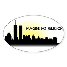 Imagine No Religion Twin Towers Decal