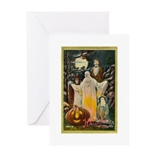 Vintage Halloween Trick r Treaters Greeting Card