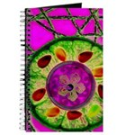 Abstract orange slice with jewels Journal