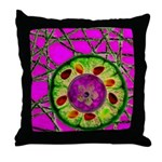 Abstract orange slice with jewels Throw Pillow