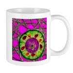 Abstract orange slice with jewels Mug