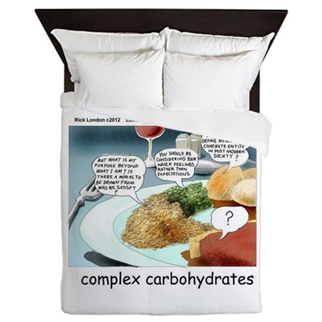 Way Too Complex Carbohydrates Queen Duvet