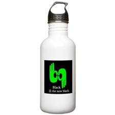 Black IS the new black. Water Bottle