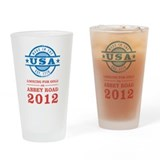 Team USA 2012 Abbey Road Drinking Glass