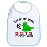 Born Year of The Snake 2013 Baby Bib