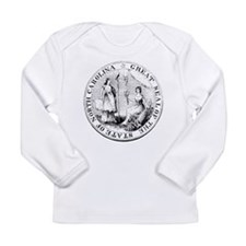 North Carolina, NC, State Seal Long Sleeve Infant