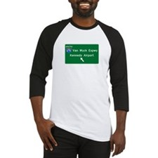Kennedy Airport Highway Sign Baseball Jersey