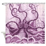 Purple Kraken Shower Curtain
