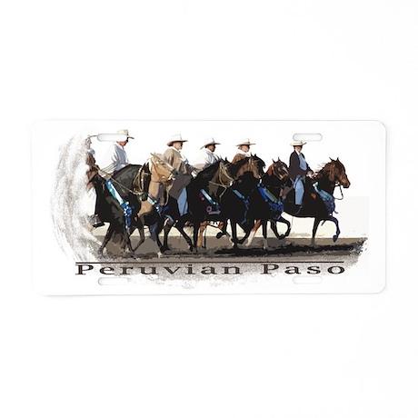 Peruvian Paso Barrida of Champions Aluminum License Plate